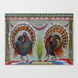 Thanksgiving Greetings 1906 Canvas Print