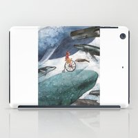 whales iPad Cases featuring Whales by Judith Chamizo