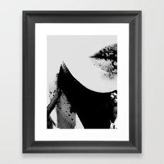 pois on mouth Framed Art Print