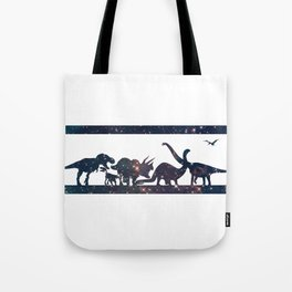 Space Dinosaurs Tote Bag