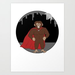 Mighty Monkey Art Print