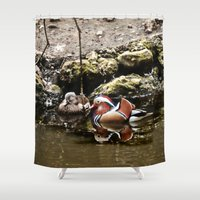 duck Shower Curtains featuring Duck by Anand Brai