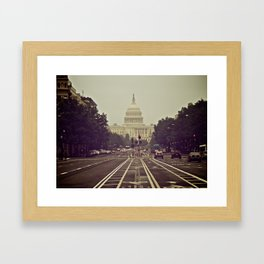 The U.S. Capitol from Pennsylvania Ave Framed Art Print