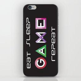 Eat, Sleep, Game, Repeat iPhone Skin