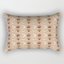 Chocolate hearts Rectangular Pillow