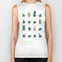 study Biker Tanks featuring A Study of Turtles by Hector Mansilla