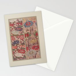 Verneuil - Japanese paper and fabric designs (1913) - 16: Chrysanthemums & Peonies Stationery Cards