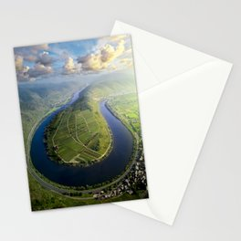 Incredible Mosel River Bend in Germany Stationery Cards