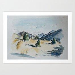 Day Hiking: The Saddle Art Print