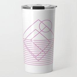 Goemetric sunset in pink Travel Mug
