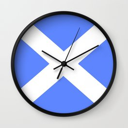 flag of scotland 5– scotland,scot,scottish,Glasgow,Edinburgh,Aberdeen,dundee,uk,cletic,celts,Gaelic Wall Clock