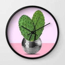 Cactus disco party Wall Clock