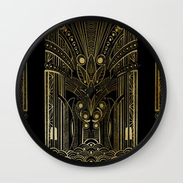 GREEK REVIVAL - BLACK N GOLD Wall Clock