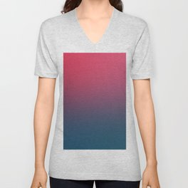 BLOOD NIGHT - Minimal Plain Soft Mood Color Blend Prints Unisex V-Neck