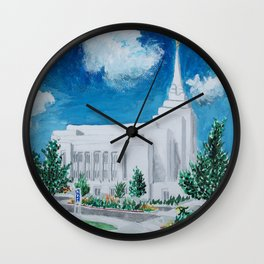Rexburg Idaho LDS Temple Wall Clock
