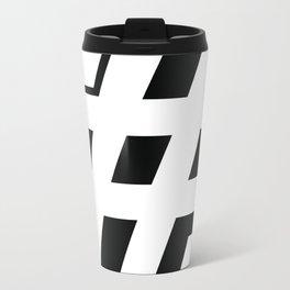 Big Hashtag Metal Travel Mug