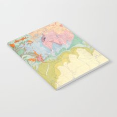 Southwest Map - Pastel Notebook