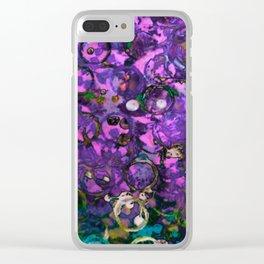 bottle cap violets Clear iPhone Case