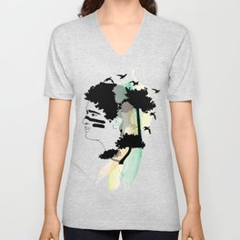 Lost Boy Watercolor Unisex V-Neck