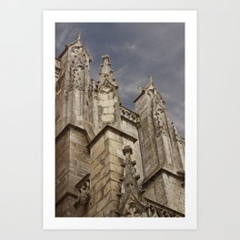St. Peter's Cathedral of Vannes – Brittany, France Art Print
