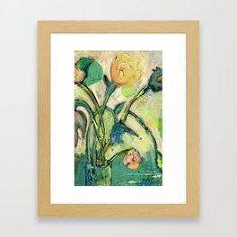 'Joy' Contemporary Floral   Framed Art Print