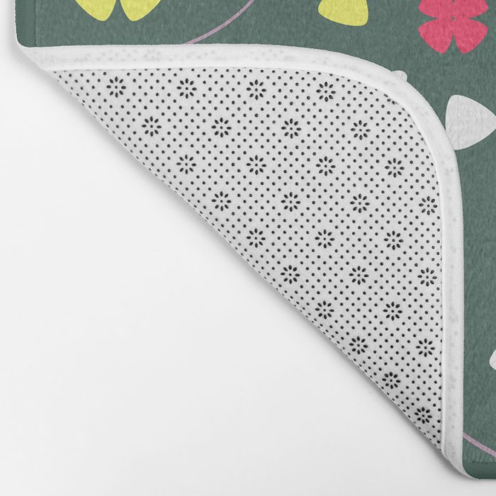 Foxes, flowers and more Bath Mat