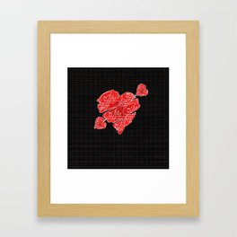 Old heart of coffee V All Print Over Shirts Framed Art Print