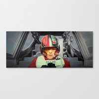 rebel Canvas Prints featuring Rebel by Rabassa