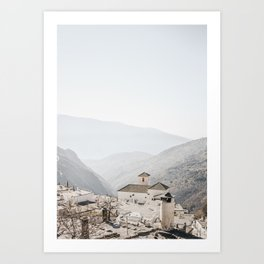 Sierra Nevada Mountaintop Village | Bubión, Spain | Fine Art Travel Prints (portrait), saige ash studio Art Print