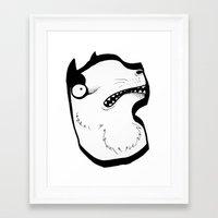werewolf Framed Art Prints featuring Werewolf by Kujirazou