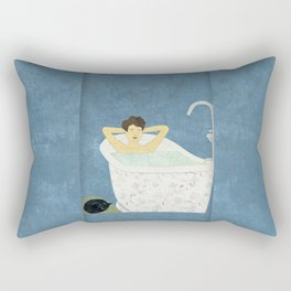 Bathtub Scene Rectangular Pillow
