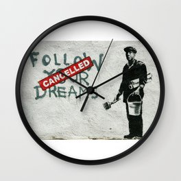 Banksy Follow Your Dreams Wall Clock