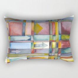 Arrows Going Forward Rectangular Pillow