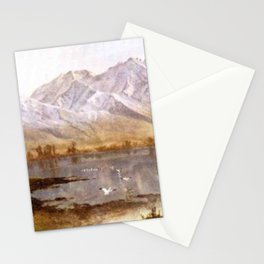 Albert Bierstadt - Wasatch Mountains, Utah Stationery Cards