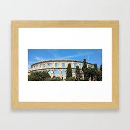 pula croatia ancient arena amphitheatre Framed Art Print