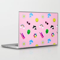 90s Laptop & iPad Skins featuring 90s Stuff Print by MagicCircle
