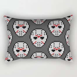 Knitted Jason hockey mask pattern Rectangular Pillow
