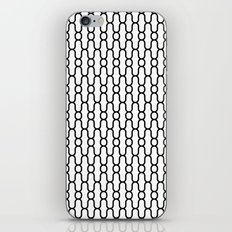 X Snowflake Pattern White iPhone & iPod Skin