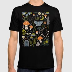 Fairy Garden X-LARGE Black Mens Fitted Tee