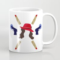 agent carter Mugs featuring Agent Peggy Carter: Spying in Style by semisweetshadow