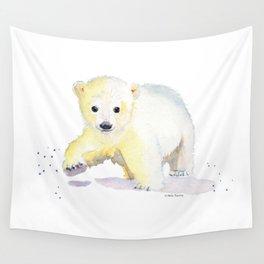 Little Polar Bear Wall Tapestry