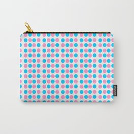pink and blue polka dot-polka dot,pattern,dot,polka,circle,disc,point,abstract,minimalism Carry-All Pouch