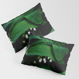 Lily Of the Valley With Large Green Leaves Pillow Sham