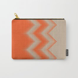 pattern growing squares chevron orange tan Carry-All Pouch