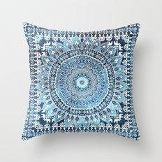 MANDALIKA INDIGO Throw Pillow