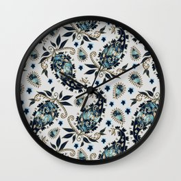 Paisley obsessions I Wall Clock