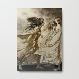 """The Ring - Fling it Away"" by Arthur Rackham Metal Print"