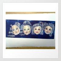 barbie Art Prints featuring Barbie by Sam Sardina
