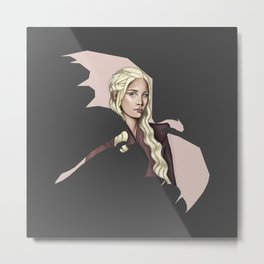 Dragon Mother ( Mother of Dragons ) (dark background) Metal Print
