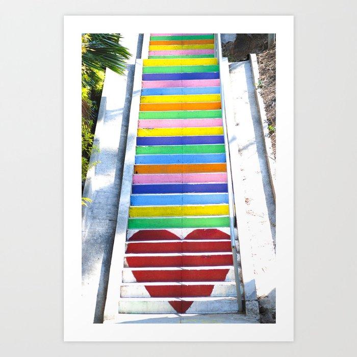 Micheltorena Stairs Art Print